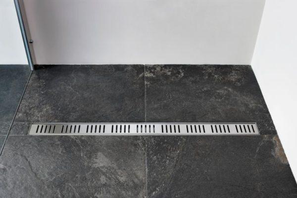 Granite floor shower drain