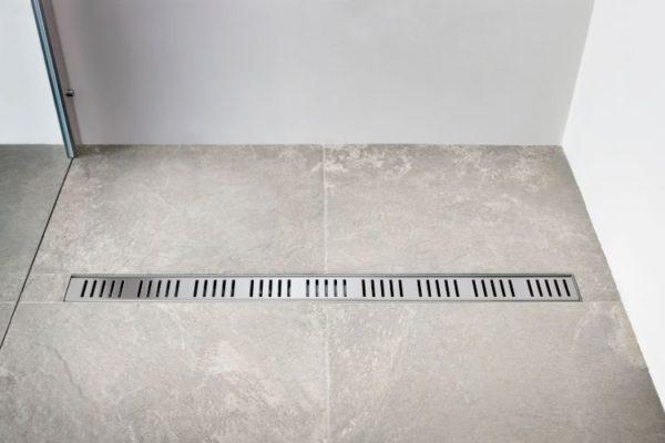 Gray floor 45 cm shower drain
