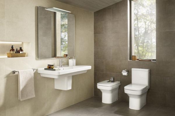 Roca dama and wall hung basin