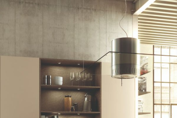 Brown contemporary kitchen
