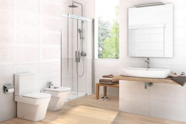 White Shower cabin