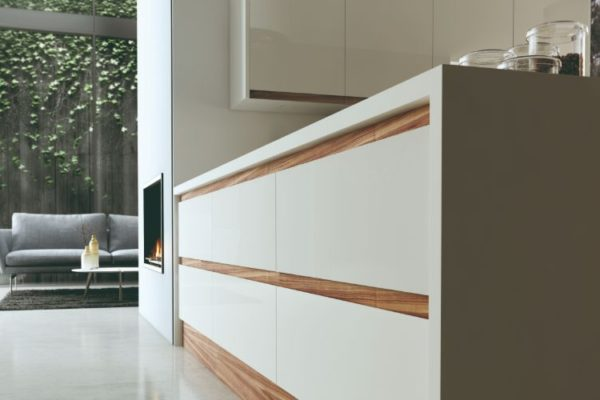 Polished white kitchen space