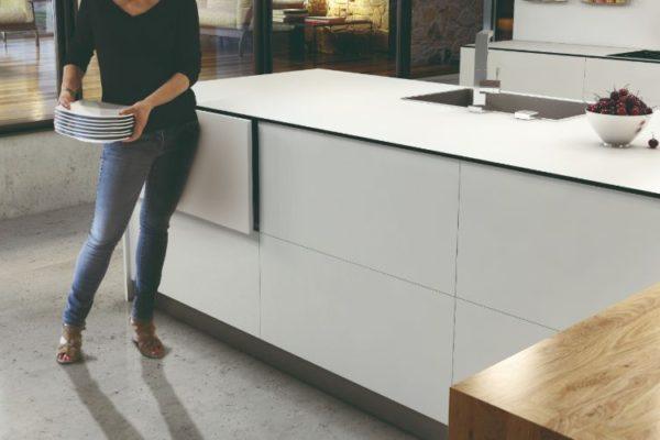 Pearl white kitchen