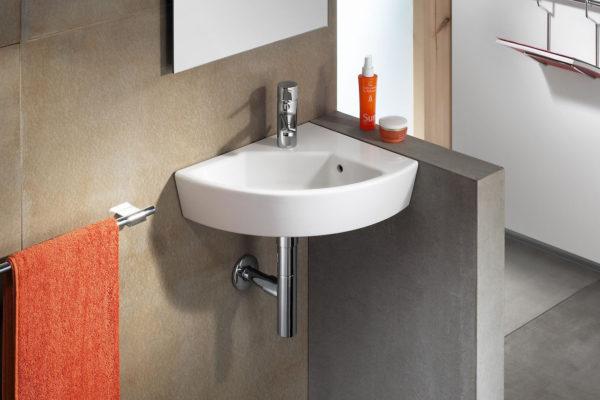 Corner washbasin
