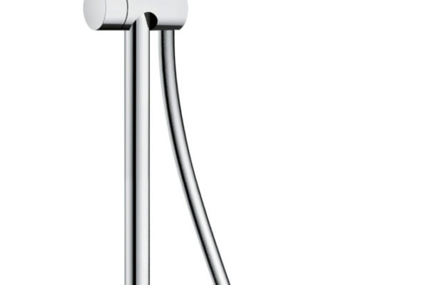 Round shaped overhead with shower arm