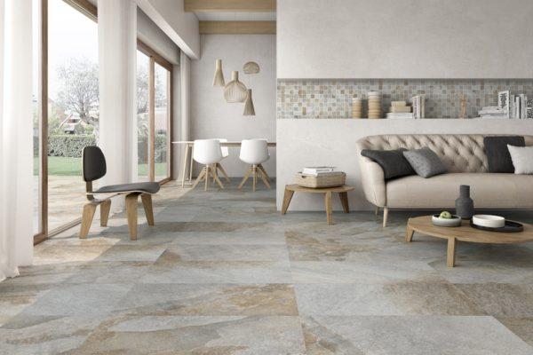 Arcadia white stone flooring