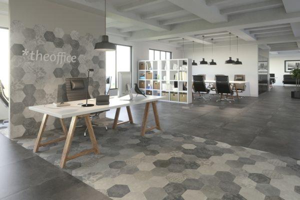 Hexagon Concrete finish tiles