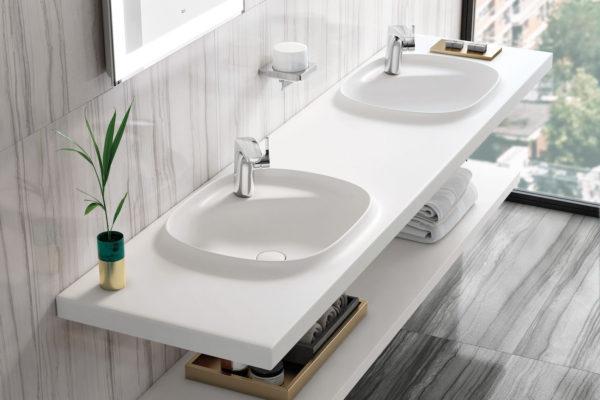 Incountertop fine ceramic wash basin