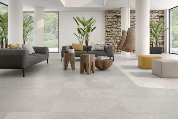 Black peak grey stone flooring