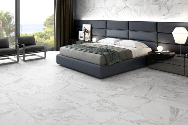 Carrara marble flooring