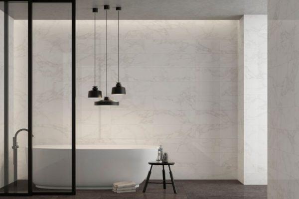 Charcoal bathroom 45 by 45 floor tiles