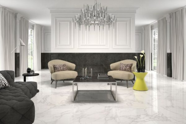 Crystal white 45 by 45 floor tiles
