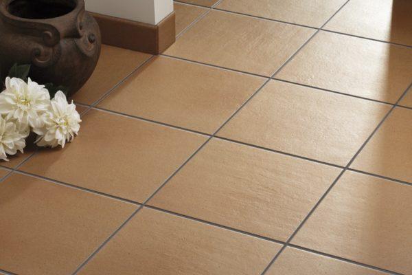 Brown terracotta tiles