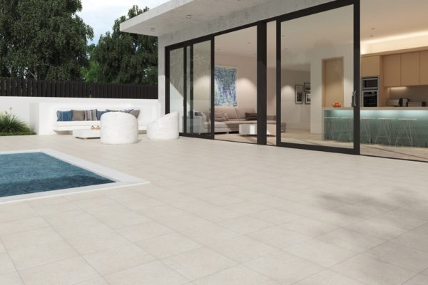 Gray terracotta tiles