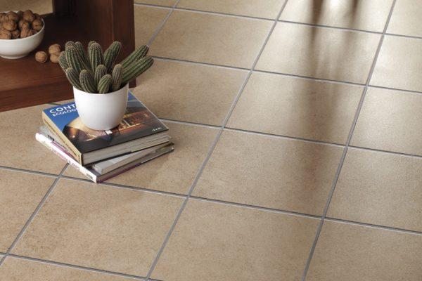 Indoor terracotta tiles