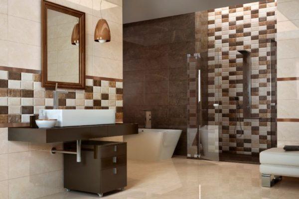 Crystal almena warm wall decor and 45 by 45 floor tiles