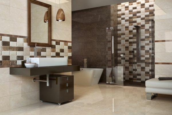 Almena warm crystal marble flooring