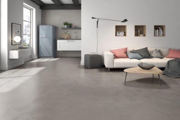 Devon concrete finish tiles