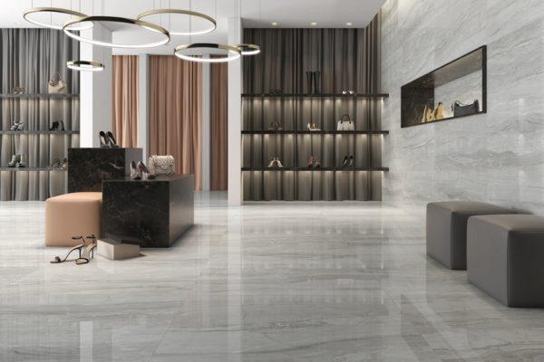 Eos argent marble flooring
