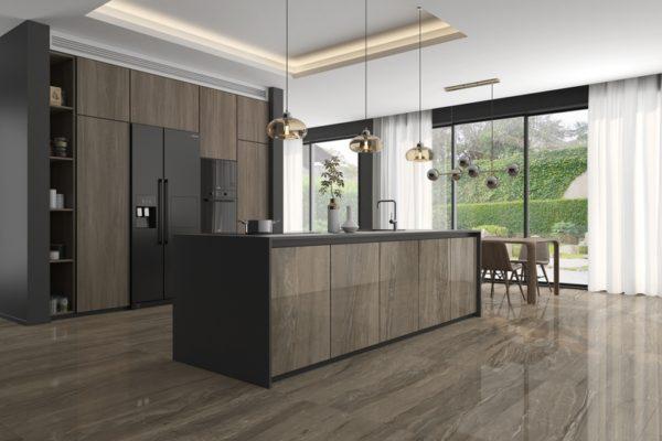 Eos moka marble flooring