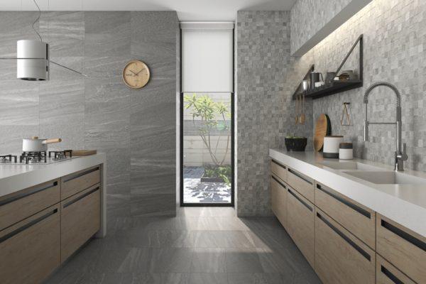 Gray falcon stone flooring