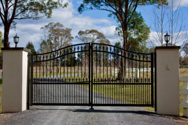 Vertical railings modern gate