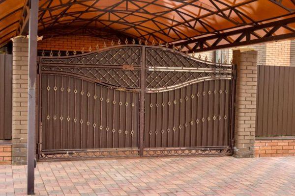 Brown modern design gate
