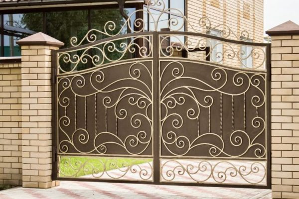 Floral design iron gate