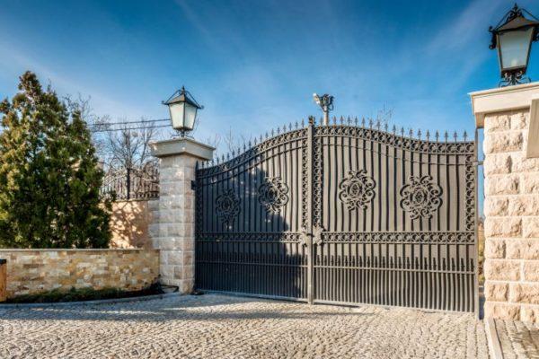 Ash gray iron main gate