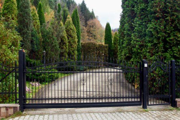 Grill decorative black main gate