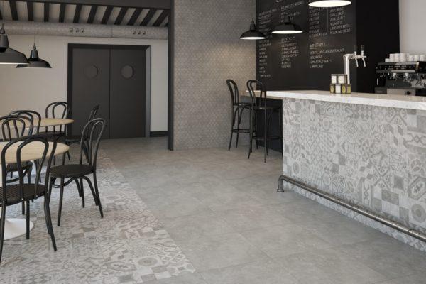 General grey concerete finish tiles