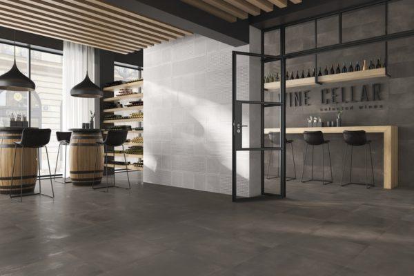 Metal gravity nickel floor tiles