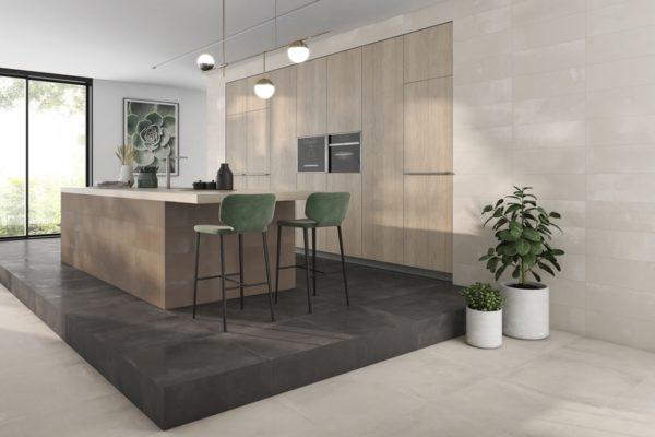 Gravity nickel metal floor tiles