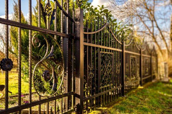 Modern design grills gate