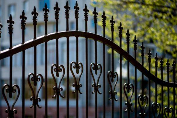 Black grill gate