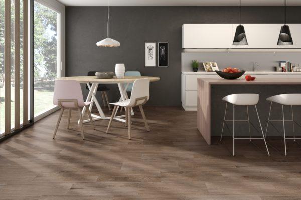 Hudson maroon wood flooring