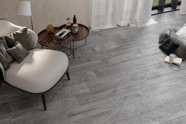 Gray inuk wood flooring