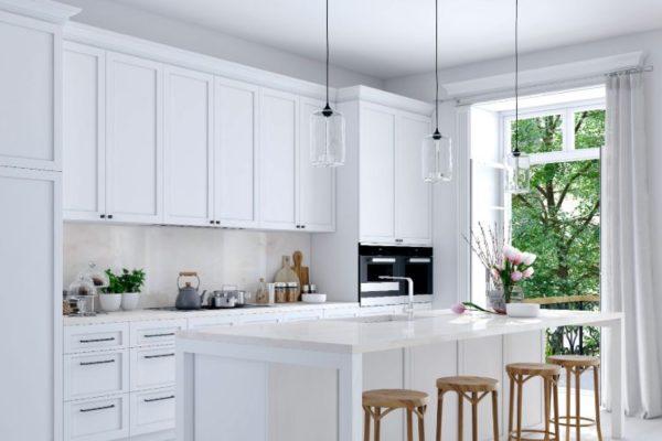 Winter white kitchen