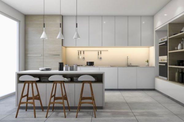 Neutral colored kitchen design