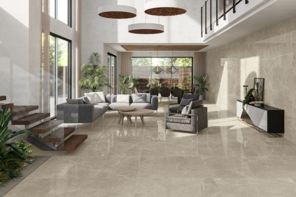 Leto cream marble flooring