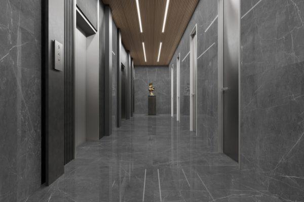 Leto grey marble flooring