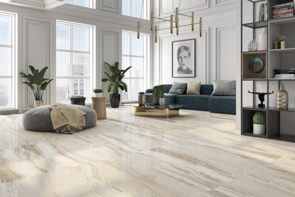 Lira ivory marble flooring