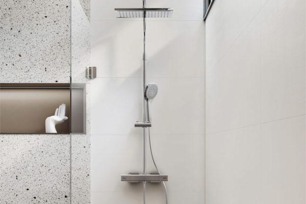 Thermostatic hand shower column