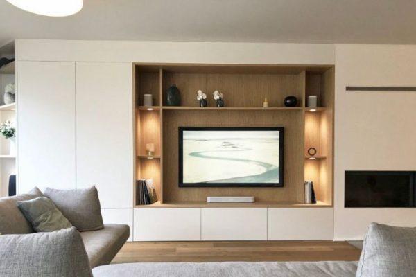 Living room tv unit design