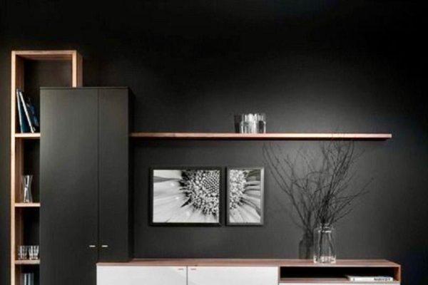 Modern charcoal black cabinet