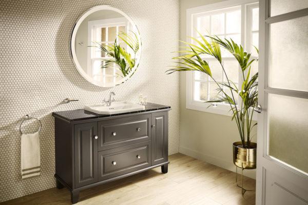 Carmen washbasin on furniture