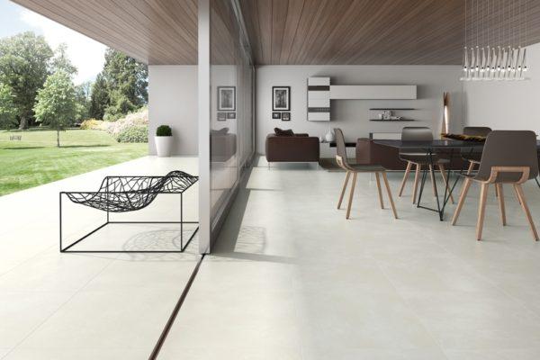 Olympus bone concrete finish tiles