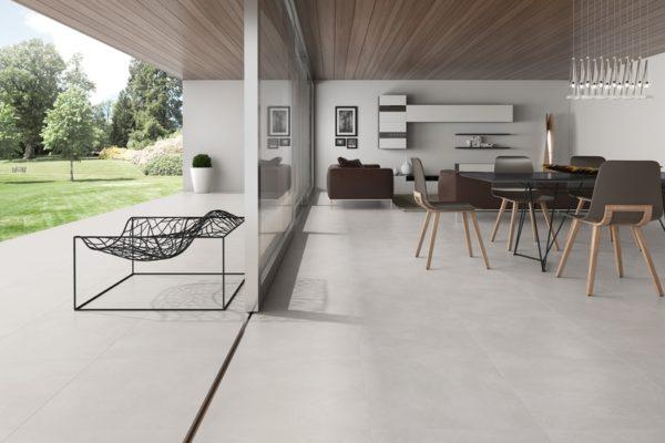 Olympus gray concrete finish tiles
