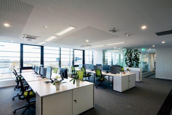 Open layout office design