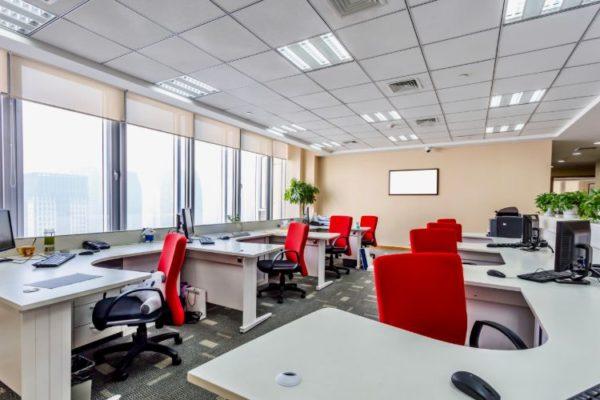 Neat comfortable office design